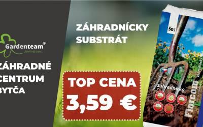 Záhradnícky substrát Florcom 50l v top cene