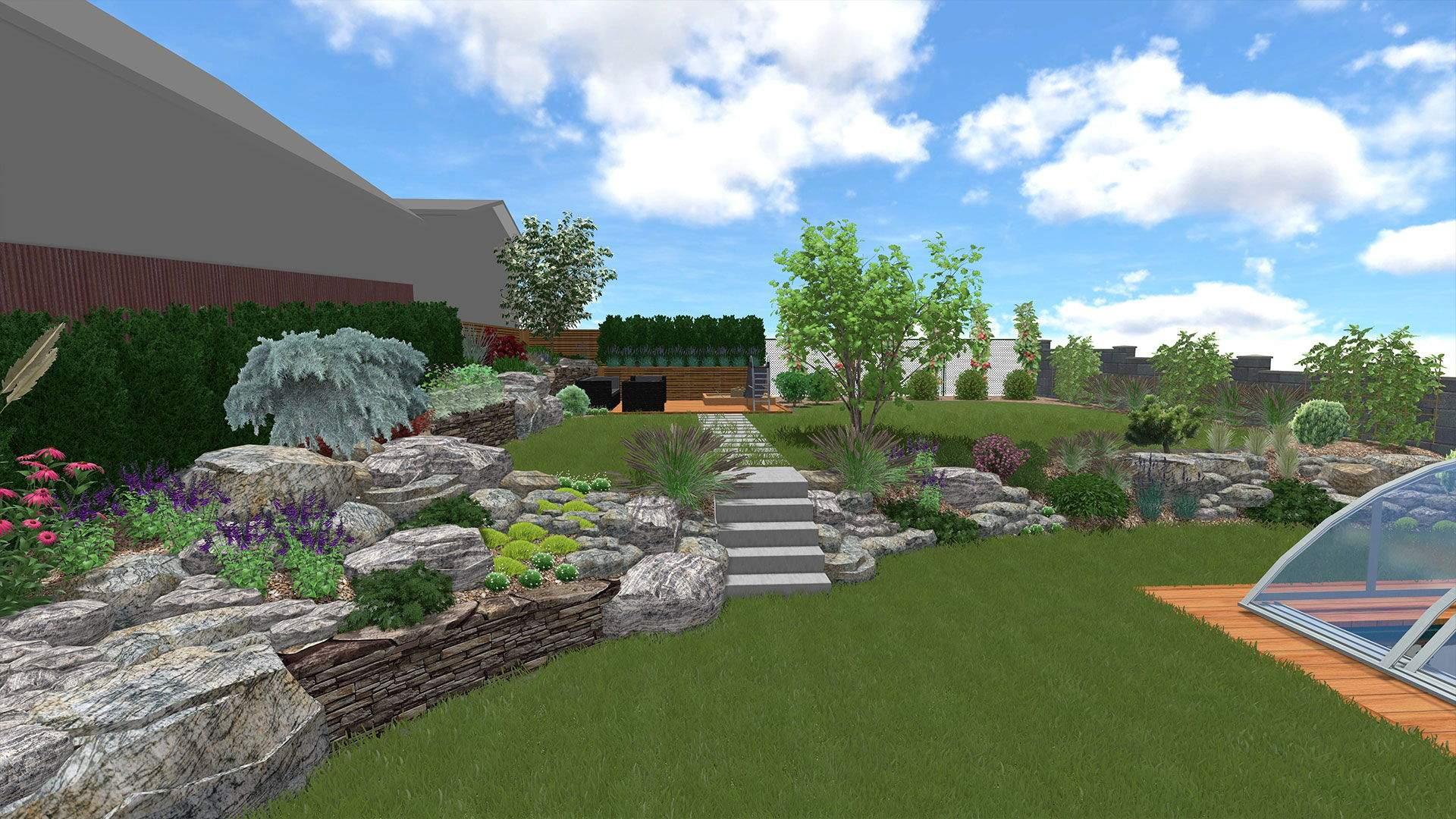 Návrh záhrady vizualizácia