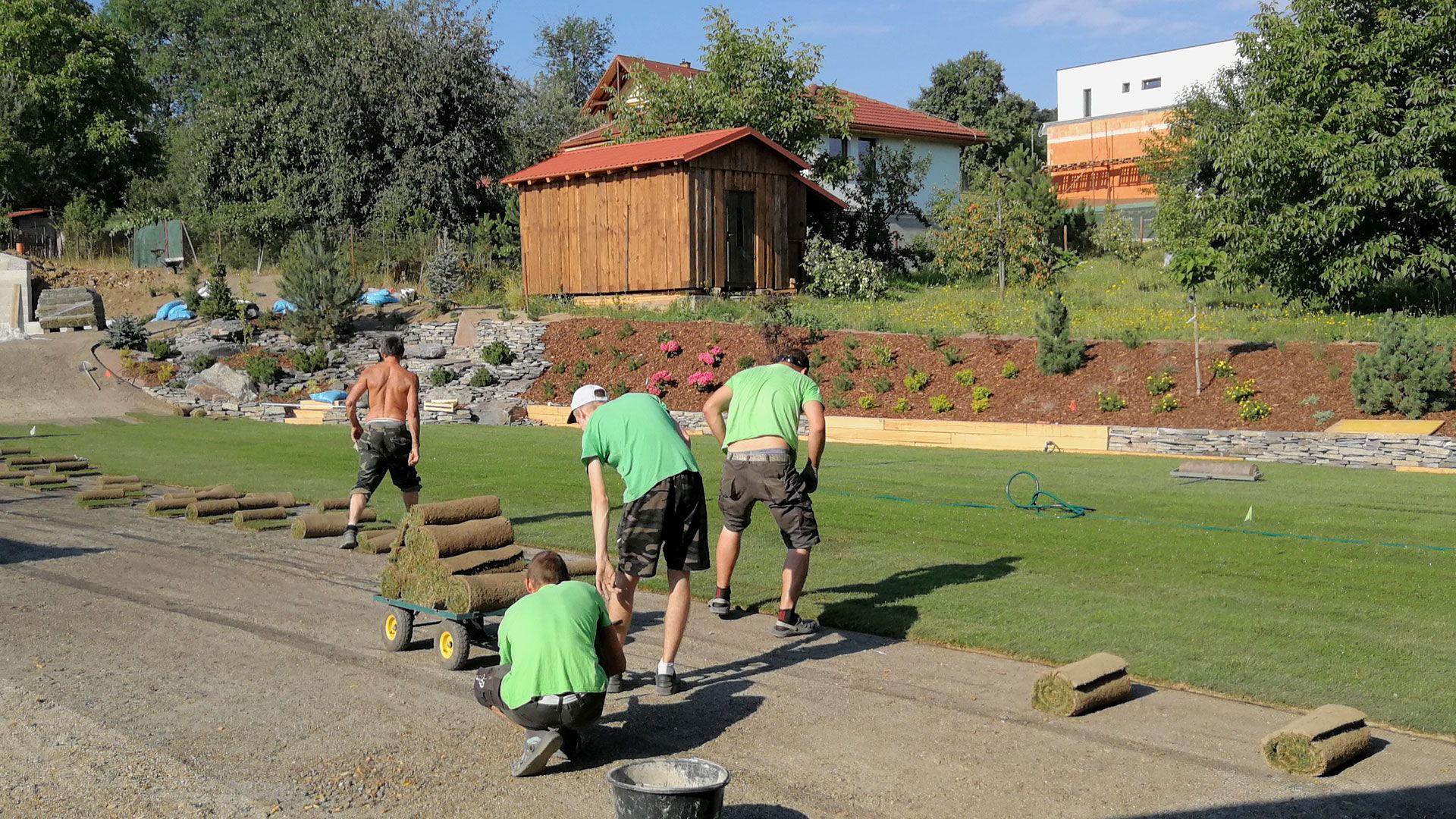 Ukladanie trávneho koberca